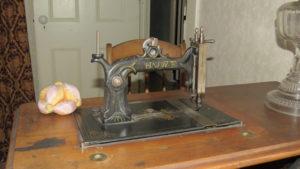 Howe sewing machine with treadle