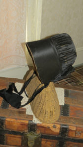 Bonnet on wicker frame